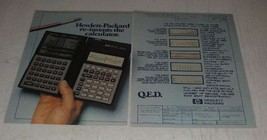 1987 Hewlett-Packard 28C Calculator Ad - Re-Invents - $14.99