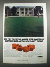 1987 Kohler Magnum Engines Ad - More Than Just Your Average Garden Variety - $14.99