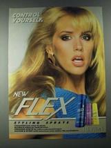1987 Revlon Flex Styling Gel Ad - Control Yourself - $14.99