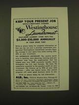 1960 ALD, Inc. Westinghouse Laundromat Ad - Keep Your Present Job - $14.99