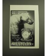 1961 Westclox Travalette Clock Ad - Don't Hibernate! - $14.99