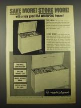1964 RCA Whirlpool Freezers Ad - Model ELH-16S and ELH-28I - $14.99