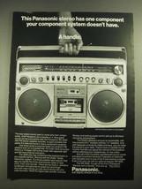 1980 Panasonic 5500 AM/FM Stereo Cassette Recorder Ad - $14.99