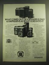 1980 Pioneer Speakers Ad - HPM 60, HPM 100, HPM 150 and HPM 40 - $14.99