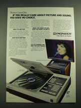 """1982 Pioneer LaserDisc Player and 50"""" Projection TV Ad - $14.99"""