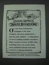 1986 Banana Republic Travel Bookstore Catalogue Ad - $14.99
