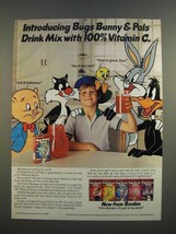 1986 Borden Bugs Bunny & Pals Drink Mix Ad - $14.99