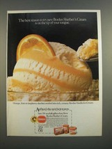 1986 Borden Sherbet 'n Cream Ad - On The Tip of Your Tongue - $14.99