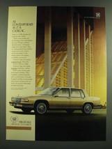 1986 Cadillac De Ville Ad - As Contemporary as it is Cadillac - $14.99