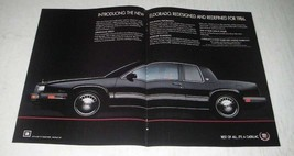 1986 Cadillac Eldorado Car Ad - Redesigned and Redefined - $14.99