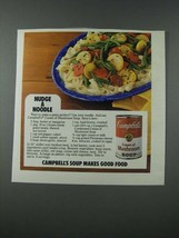 1986 Campbell's Cream of Mushroom Soup Ad - Nudge a Noodle - $14.99