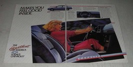 1986 Chevrolet Cavalier RS Coupe Ad - Makes You Feel Good Inside - $14.99