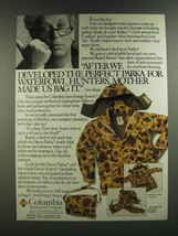 1986 Columbia Decoy Parka Ad - Perfect for Waterfowl Hunters - $14.99