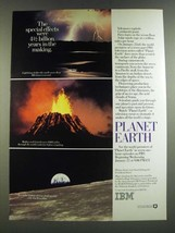 1986 IBM Planet Earth PBS TV Show Ad - Special Effects Were 4 1/2 Billion Years - $14.99