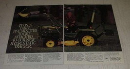 1986 John Deere 655 Tractor Ad - Takes Five Minutes to Get Attached - $14.99