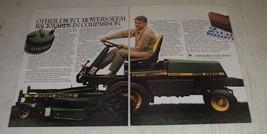 1986 John Deere F935 Front Mower Ad - Seem Backwards in Comparison - $14.99