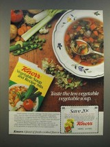 1986 Knorr Vegetable Soup and Recipe Mix Ad - Ten Vegetable - $14.99