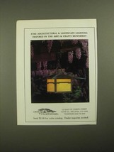 1987 Arroyo Craftsman Lights Ad - Inspired by the Arts & Crafts Movement - $14.99