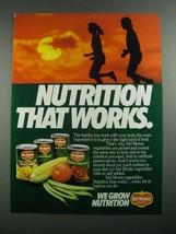 1987 Del Monte Vegetables Ad - Nutrition That Works - $14.99