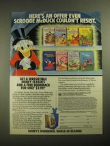 1987 Disney's Wonderful World of Reading Books Ad - Scrooge McDuck - $14.99