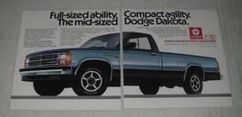 1987 Dodge Dakota Pickup Truck Ad - Full-Sized Ability - $14.99