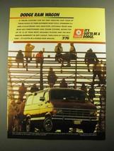 1987 Dodge Ram Wagon Ad - $14.99