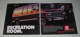 1987 Dodge Ram Wagon Ad - Recreation Room - $14.99