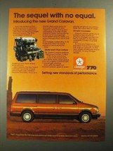 1987 Dodge Grand Caravan Ad - The Sequel With No Equal - $14.99