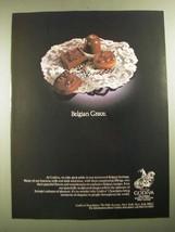 1987 Godiva Chocolate Ad - Belgian Grace - $14.99