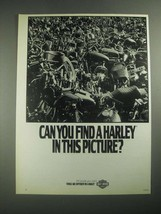 1987 Harley-Davidson Motorcycles Ad - Can You Find a Harley in This Picture? - $14.99