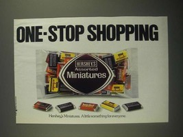 1987 Hershey's Assorted Miniatures Ad - One-Stop Shopping - $14.99
