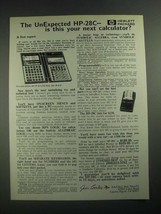 1987 Hewlett-Packard HP-28C Calculator Ad - The UnExpected - $14.99