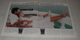 1987 Maxwell House Private Collection Coffee Ad - Reflective and Civilized - $14.99