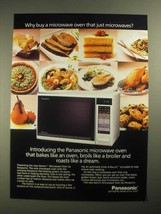 1987 Panasonic Gemini Microwave Ad - Why Buy A Oven That Just Microwaves - $14.99