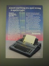 1987 Panasonic Accu-Spell Plus RK-T34 Typewriter Ad - You Spell Wrong - $14.99