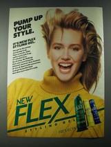 1987 Revlon Flex Styling Gel Ad - Pump Up Your Style - $14.99
