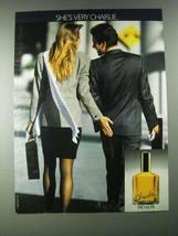 1987 Revlon Charlie Perfume Ad - She's Very Charlie - $14.99