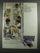 1987 Snickers Candy Bar Ad - 3:01 P.M. The Sweet Sounds of Summer - $14.99