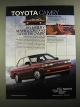 1987 Toyota Camry Ad - Reliability Never Looked So Good - $14.99