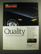 1987 Toyota Cars Ad - Quality - $14.99