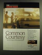 1987 Toyota Cars Ad - Common Courtesy - $14.99