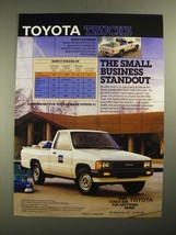 1987 Toyota Standard Bed Truck Ad - Small Business Standout - $14.99