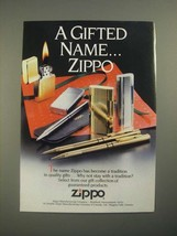 1987 Zippo Lighters Ad - A Gifted Name - $14.99