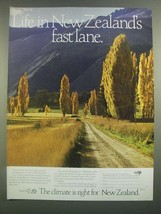 1988 New Zealand Tourism Ad - Life In Fast Lane - $14.99