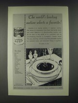 1931 Campbell's Tomato Soup Ad - Leading Nation Selects a Favorite - $14.99