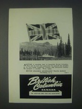 1947 British Columbia Canada Ad - Anytime is Vacation Time - $14.99