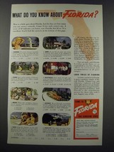 1948 Florida Tourism Ad - What Do You Know About Florida? - $14.99