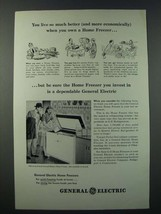 1948 General Electric 8-cu Ft Home Freezer Ad - You Live So Much Better - $14.99