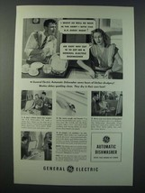1948 General Electric Automatic Dishwasher Ad - Might As Well be in the ... - $14.99