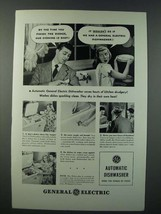1948 General Electric Automatic Dishwasher Ad - By The Time You Finish - $14.99